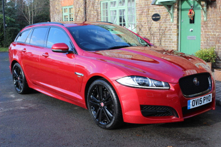 Jaguar XF R-Sport Black<br />2015 Metallic Red Estate NOW SOLD